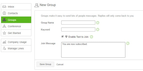 Creating a SendHub Group