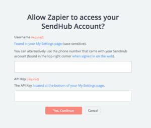 Integrating SendHub with Google Calendar on Zapier