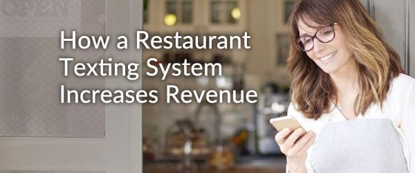 restaurant texting system
